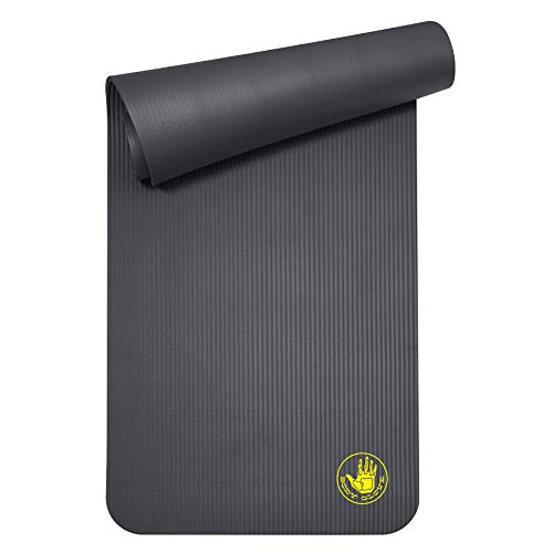 Body Glove Compact Extra Thick Fitness Mat with Carrying Strap, 10mm thick, Standard Fitness & Yoga Mat for Men and…