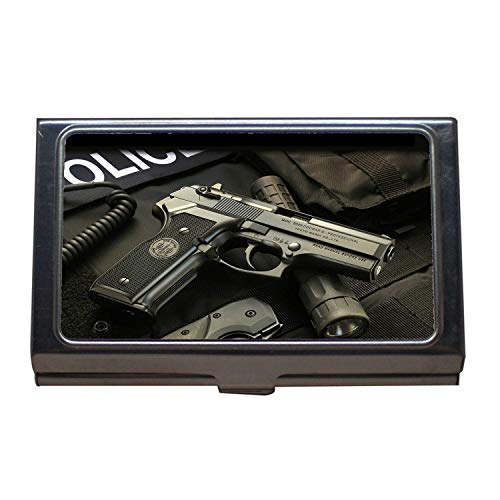Business Card Holder,Gun Stickers,Business Card Case Stainless Steel,hd Gun s p Business Card Box