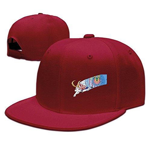 Men Women Chivas Del Guadalajara Ram Baseball Cap Snapback Red (Hat Last King Red)
