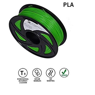 LEE FUNG 1.75mm PLA 3D Printing Filament Dimensional Accuracy +/- 0.05 mm 2.2 LB Spool DIY Material Tools (Green)