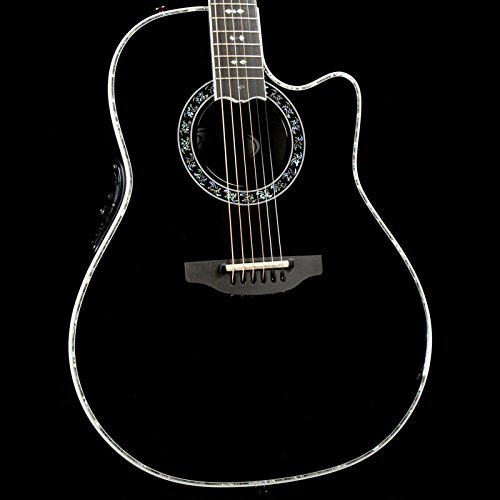 Ovation C1869LX-5 Acoustic-Electric Guitar, Black Gloss -