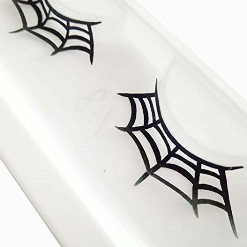 Franterd Spider web Eyelashes - A pair Halloween Party Makeup Arts Eye Lashes -