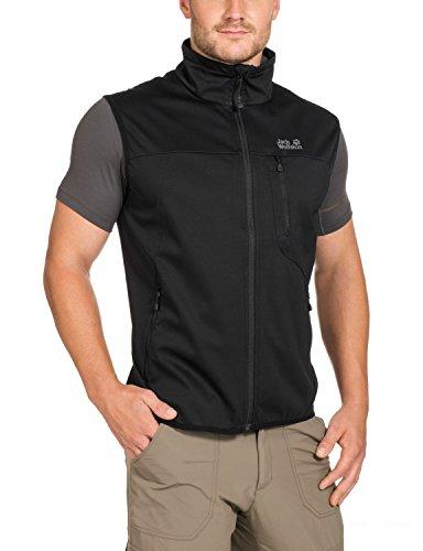 Jack Wolfskin Herren Softshellweste Sonic Barrier Vest, Black, L, 1302312-6000004