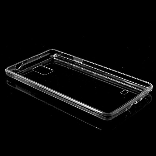 JUJEO TPU Edge + Crystal Acrylic Back Hybrid Case Shell for Samsung Galaxy Note 4 N910 - Transparent - Non-Retail Packaging - Clear