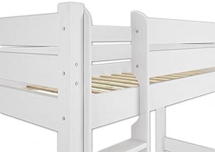 Etagenbett 80 160 : Kinderbett holzbett hochbett weiß cm sypad