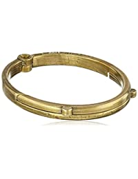 "Giles and Brother Men's""G&B"" Latch Classic Brass Cuff Bracelet"