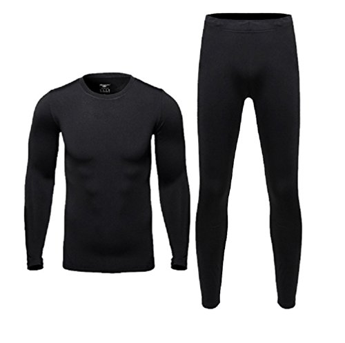 Zeabon Therma Ultra-Soft Tagless Thermal Underwear - Mens Heavyweight Long Johns Set Base Layer Fleece Lined Heavyweight Long Underwear Tops