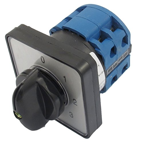 h 660V 20A 6 Terminals 4 Positions Rotary Cam Changeover Switch ()