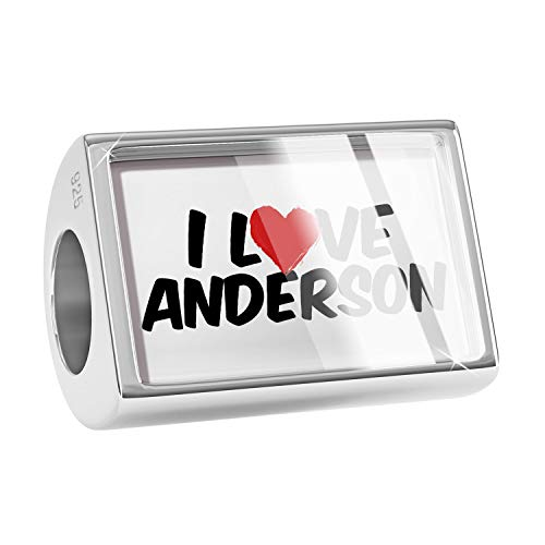 NEONBLOND Charm I Love Anderson 925 Sterling Silver Bead ()