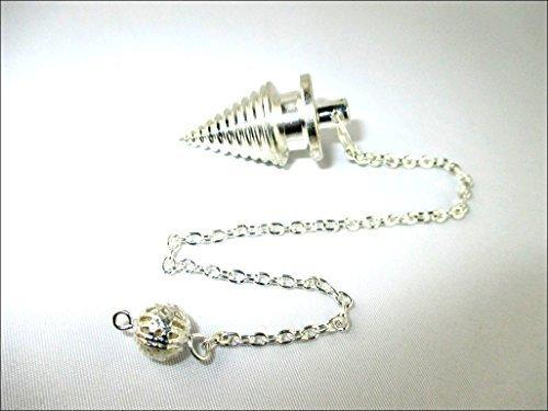 - Jet Brilliant Twisted Silver Pendulum Vortex Spiral Pendulum Booklet Jet International Crystal Therapy