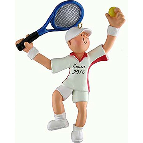 Tennis Boy Personalized Christmas Ornament