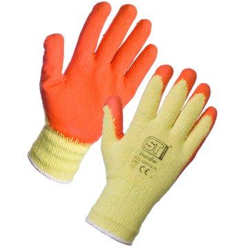 120Paar Grab & Grip Handler orange Latex Handschuhe Gummi Garten-Baumeister Arbeitshandschuhe