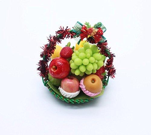 Decoration Xmas Fruit Gift Basket Dollhouse Miniature Handmade Food Supply Set 2