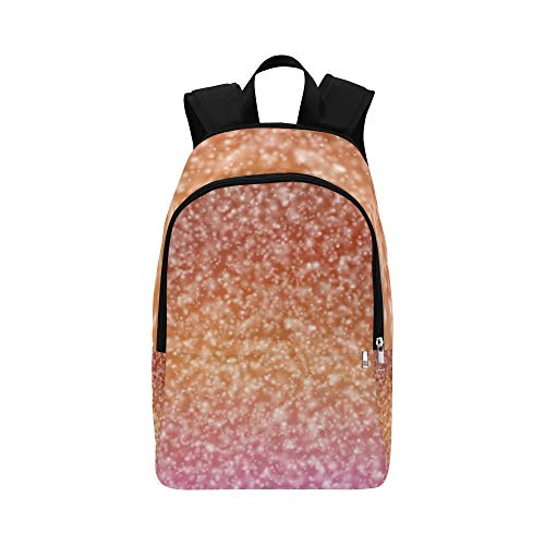 YUMOING Abstract Snowfall Red Orange Decoration Casual Daypack Travel Bag College School Backpack For Mens And Women (Neon Shield Wall)