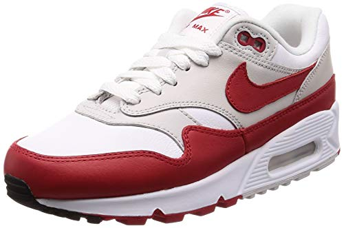 Nike Air Max 90/1 Womens Style: AQ1273-100 Size: 6.5 White/University Red (Nike Air Max 90 Red And Grey)