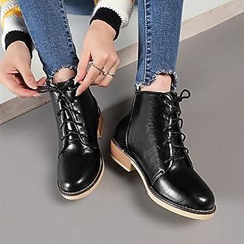 Desy zapatos sintética de la mujer otoño invierno comodidad Novelty Moda Botas Botas Botas de combate