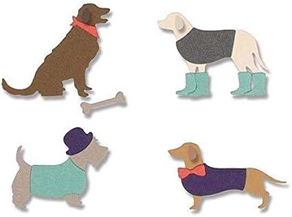 Three Dogs Cutting Dies Stencils DIY Scrapbook Album Birthday Paper Card Crafts