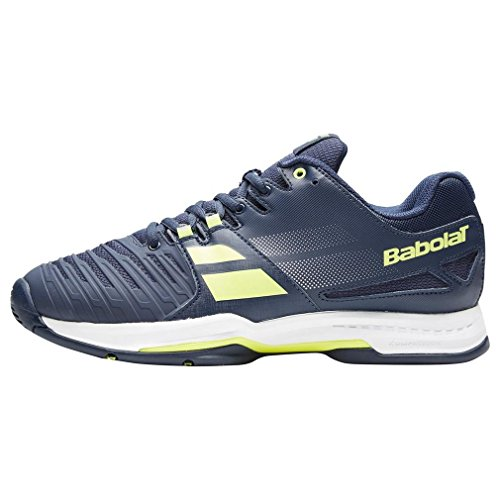 Babolat SFX All Court Mens Tennis Shoe (10.5 Navy Blue/Yellow)