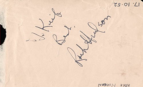 (Rock Hudson - Inscribed Signature Circa 1952 co-signed By: Gino Cervi)