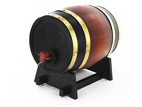 Fass als Weinspender - Dunkle Eiche - Fassungsvermögen 3 L - Praktisch und gesellig