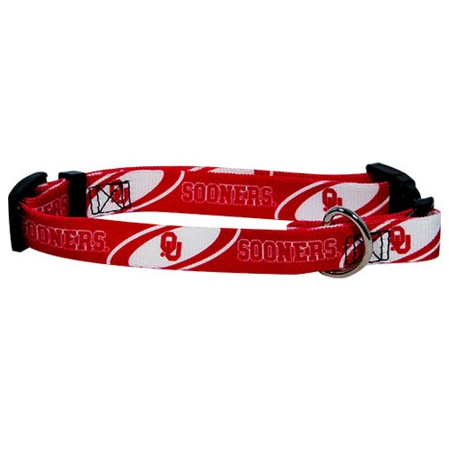 Hunter MFG Oklahoma Sooners Dog Collar, Large