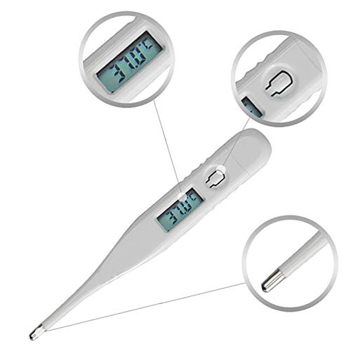 Body Thermometers Medical Digital LCD Temporal Thermometer Waterproof Oral Temperature Measurement Tool