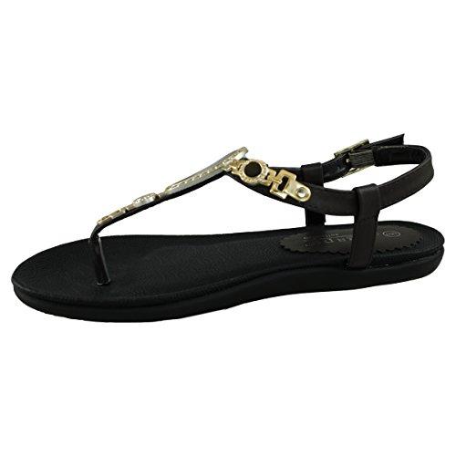 Vidt Gap Handlinger-12 Fotseng Tanga Sandal Sjokolade