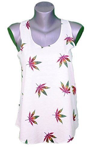 WEED KUSH GANJA FULL PRINT SUMMER VEST TOP - TANK TOP - UNIQUE SIZE