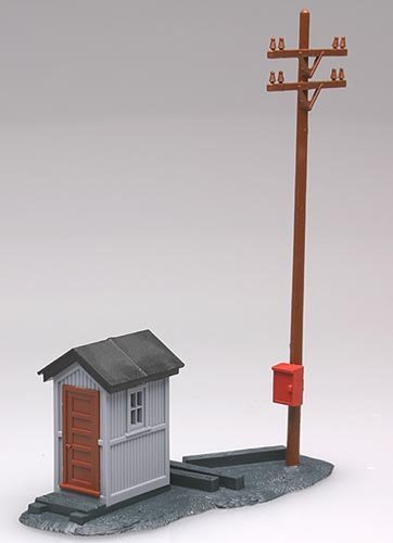 Atlas HO Scale Model Railroad Building Kit Telephone Shanty & ()
