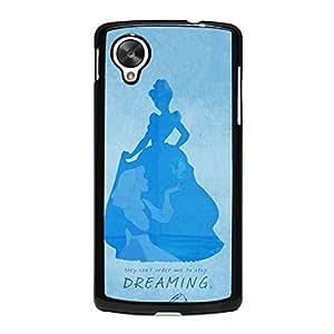 Cinderella Design Princess Vintage Simple Cover Case for Google Nexus 5 American Cartoon Series