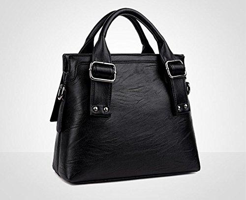 nueva Señoras moda todo la primavera gules bolso verano black Meaeo bolsa Crossbody calurosos coincide y con qRwznI
