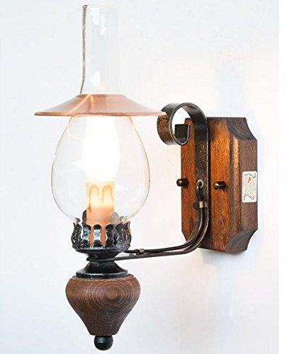 LAMPADE LINEA \'BAITA\' LAMPADA A MURO APPLIQUE CON CAPPA IN RAME ...