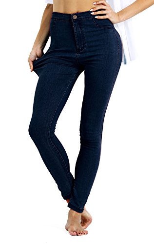 Comfy Tights (MoCuishle Womens High Waisted Jeans Stretchy Comfy Skinny Fit Denim Tights Pants (Medium, Blue))