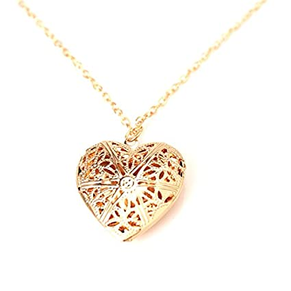Gold plated heart shape rose picture photo frame locket pendants gold plated heart shape rose picture photo frame locket pendants pendant necklace with chain for aloadofball Gallery