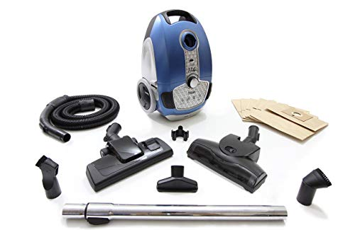 Prolux Tritan Bagged Canister Vacuum with HEPA Filtration for Pet Owners (Renewed)