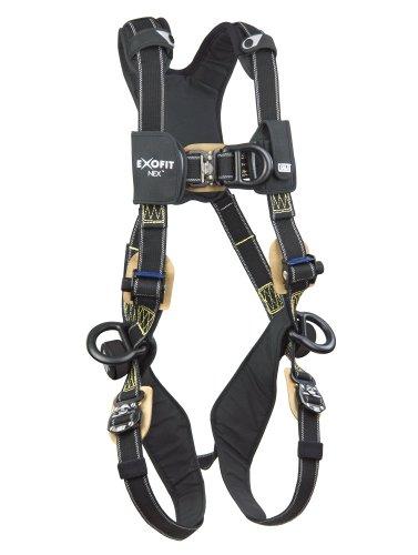 3M Dbi Sala Exofit Nex 1113332 Full Body Arc Flash Climbing Harness  4 Pvc Coated Alum D Rings  Nomex Kevlar Web  Comfort Padding  Locking Qc Leg Straps  Large  Black