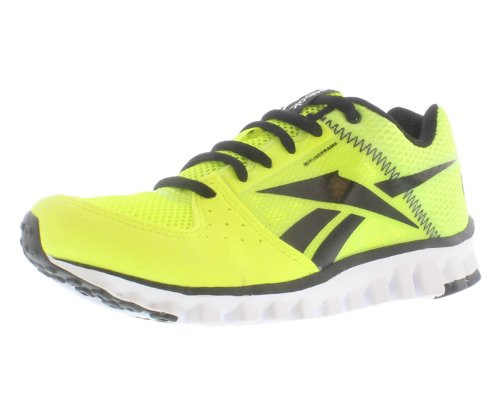 Image of the Reebok Realflex Transition Shoe (Little Kid/Big Kid),Neon Yellow/Black/White,3 M US Little Kid