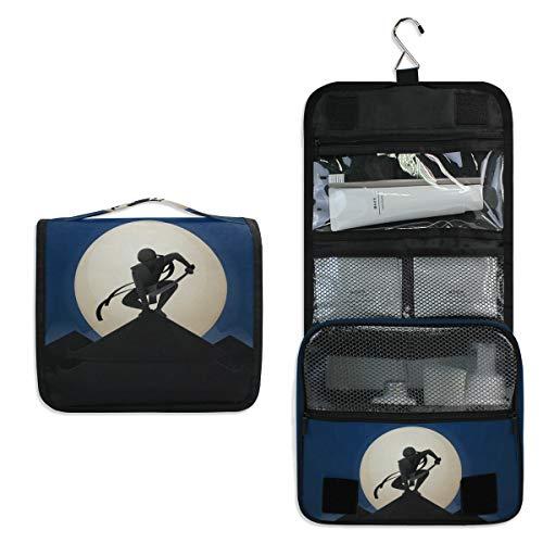 Travel Hanging Toiletry Bag, MOYYO Japanese Ninja Cosmetic Bag Large Capacity Cosmetic Pouch Waterproof Makeup Bag Travel Organizer for Women Girls Men]()