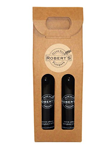 Balsamic Herb - Robert's Infused Olive Oil and Balsamic Vinegar - 2 (200ml) bottle gift pack - Tuscan Herb and Raspberry