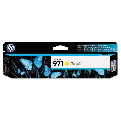 HP 971 Yellow Ink Cartridge (CN624AM) for HP Officejet Pro X451 X476 X551 X576 ()