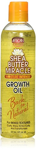 African Pride Shea Butter Miracle Growth Oil, 8 Ounce