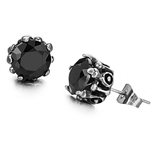 Women's Earrings Black Swarovski Crystal Titanium Steel Stud Earring, Lovely Gift for Women