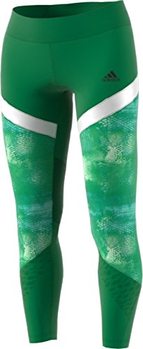 adidas Women's Training Wow Drop Tights, Core Green/White, X-Small by adidas (Image #1)