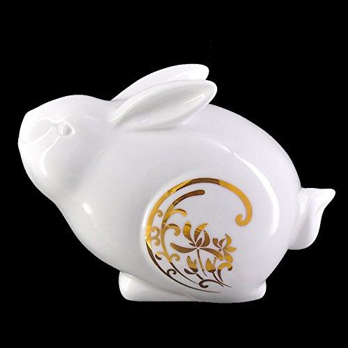 gold Rabbit  Rabbit Ying Fu XOYOYO Twelve Zodiac Animal Ornaments Ceramic Craft Gift Home Furnishing Office Desktop Accessories,White Tiger  Embossed Version