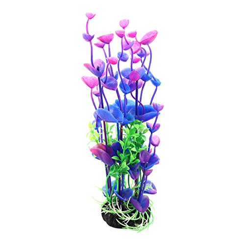 Jardin Landscaping Water Plant Decoration for Aquarium, 8.3-Inch, Purple/Green