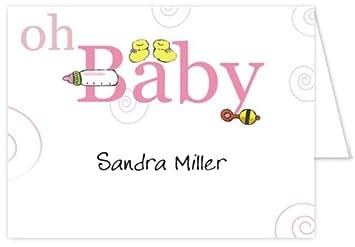 Amazon.com: Oh Baby Girl bebé tarjetas de agradecimiento ...