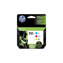 HP 951 | 3 Ink Cartridges | Cyan, Magenta, Yellow | Works with HP OfficeJet Pro 251dw, 276dw, 8600 Series, 8100…