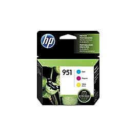 HP 951 | 3 Ink Cartridges | Cyan, Magenta, Yellow | CN050AN, CN051AN, CN052AN