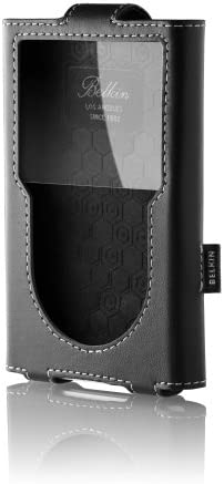 BELKIN CASE for IPOD TOUCH Black+White Stitching FORMED LEATHER Protection NEW!