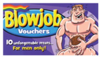 blowjob voucher Be the first to.